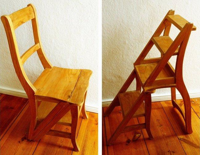 деревянный стул-стремянка